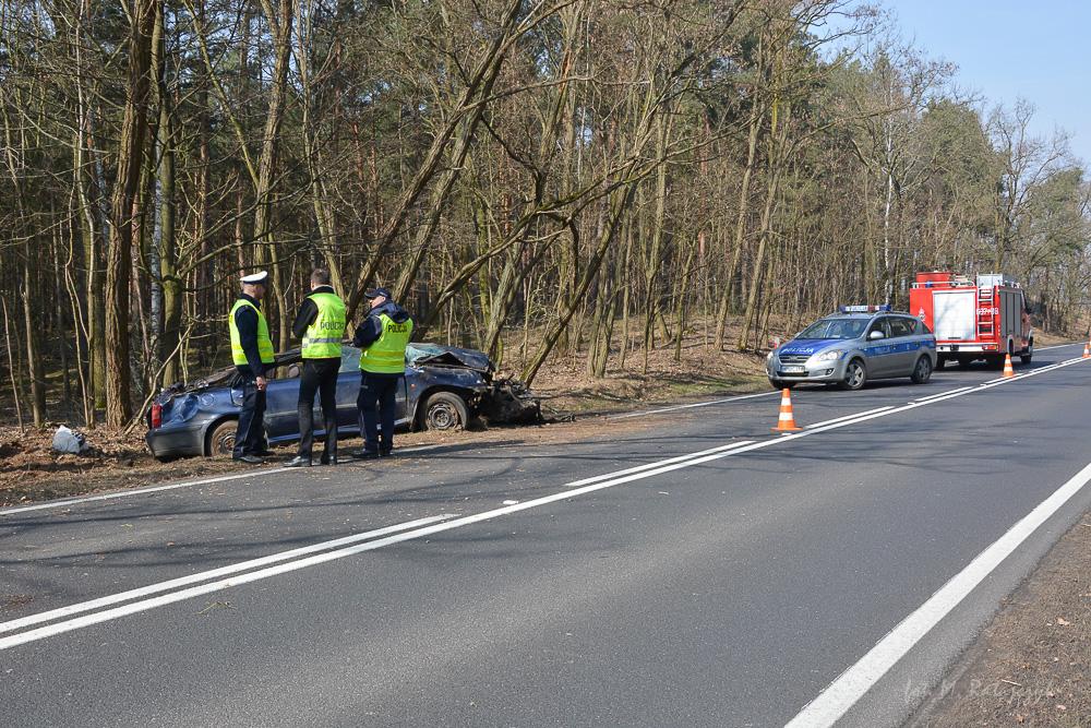 Dachowanie samochodu - Zbrudzewo - 25.03.2018 r.