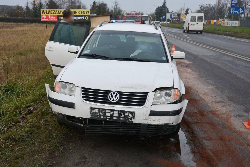 Kolizja 4 aut - ul. Gostyńska - 25.11.17 r.
