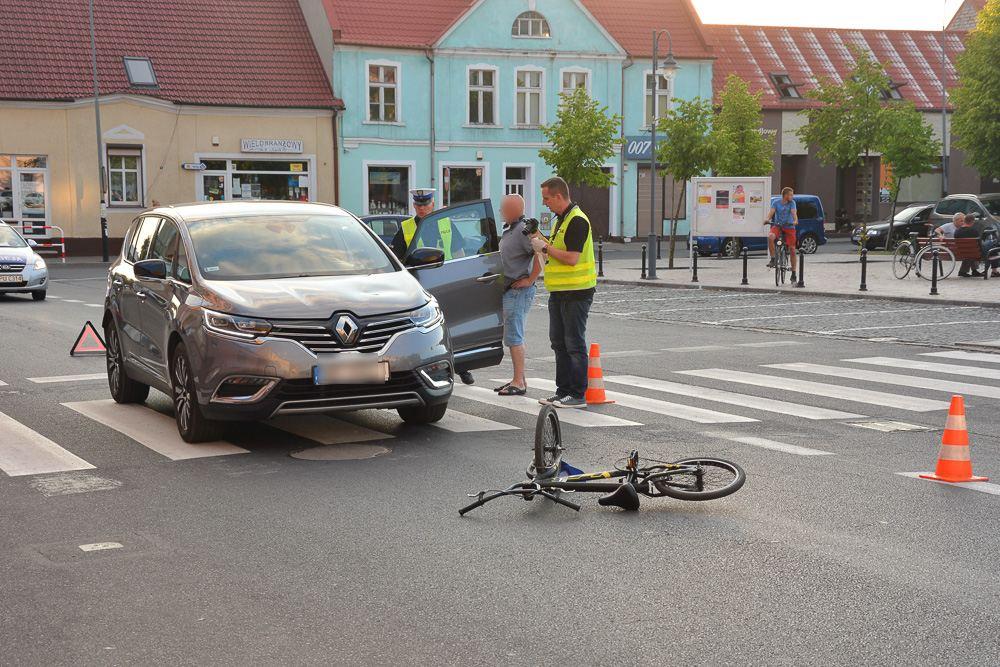 Potrącenie rowerzysty - Książ Wlkp. - 29.05.18 r. / Michał Ratajczyk