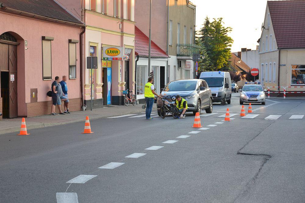 Potrącenie rowerzysty - Książ Wlkp. - 29.05.18 r.