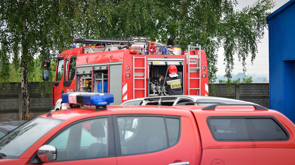 Pożar na terenie zakładu samochodowego - 17.07.17 r.