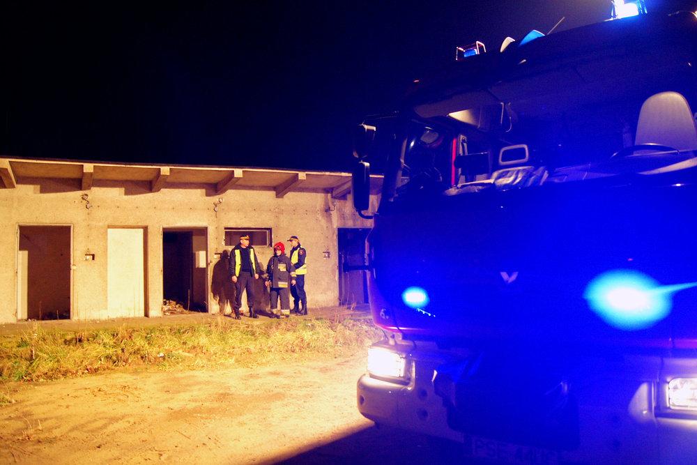 Pożar pustostanu przy szpitalu