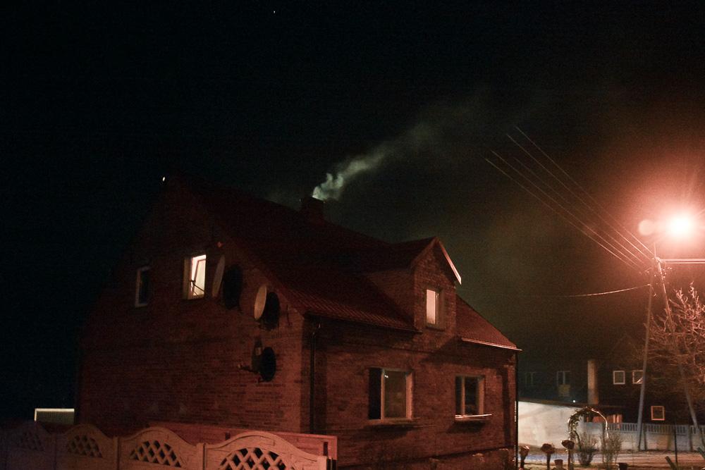 Pożar sadzy w kominie - Drzonek 21.12.16 r.