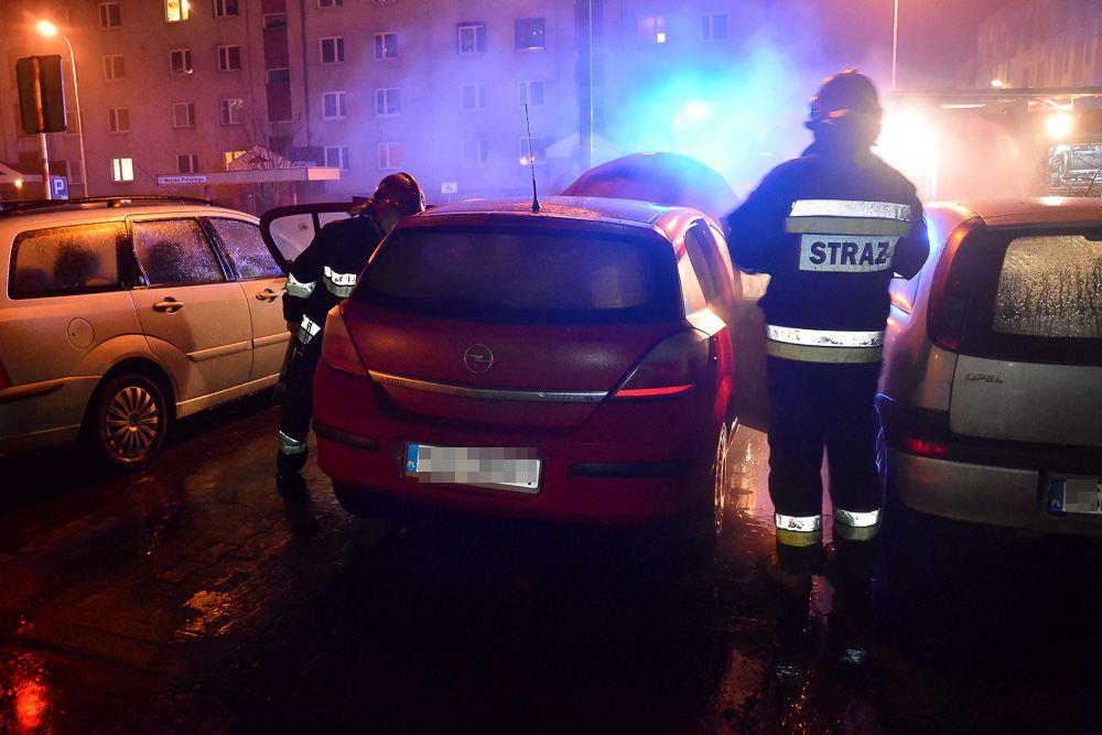 Pożar samochodu - Wojska Polskiego - 07.02.18 r.