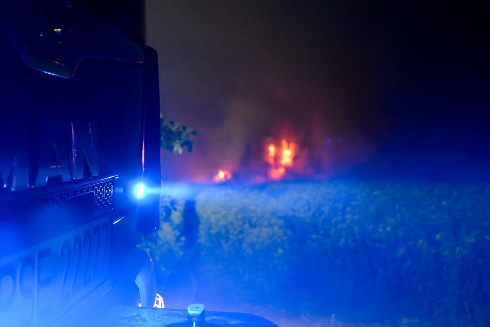 Pożar stogu - Przylepki - 09.05.18 r.