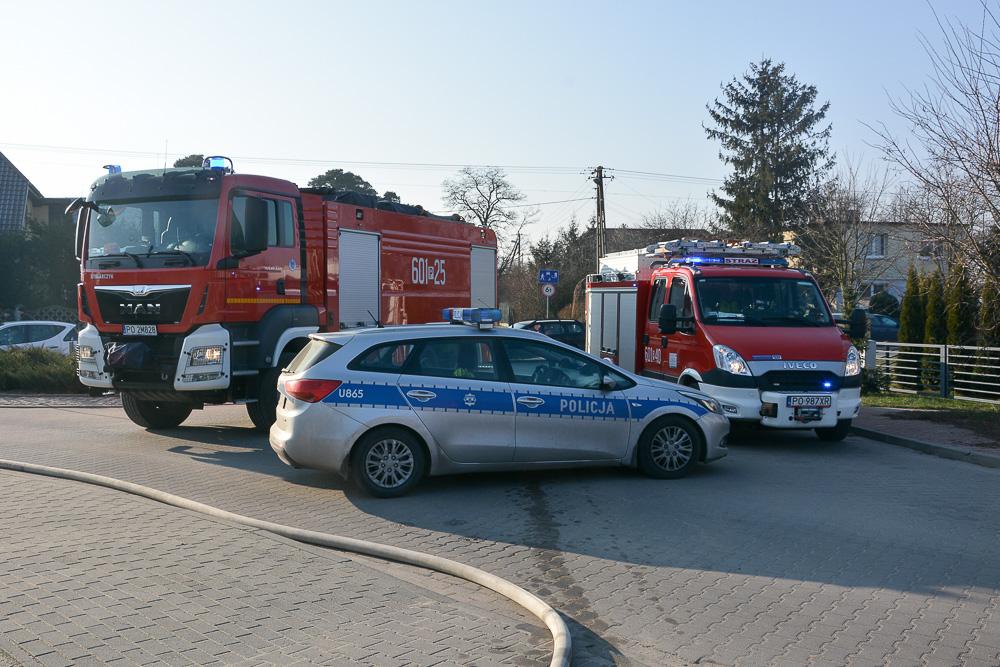 Pożar szopy - Psarskie - 15.01.18 r.