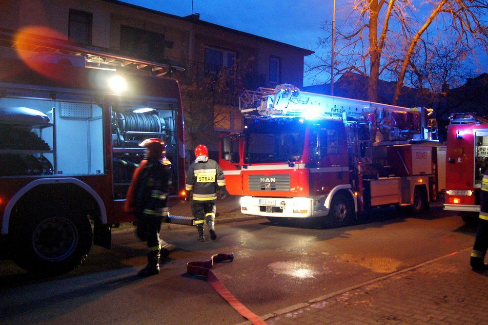 Pożar w domu przy ul. Mickiewicza - 24.12