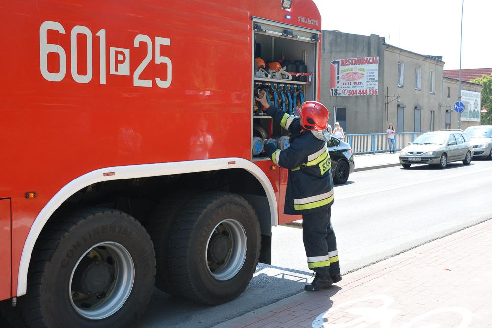 Pożar zabudowań przy ul. Młyńskiej - 27.05.18 r. / Michał Ratajczyk