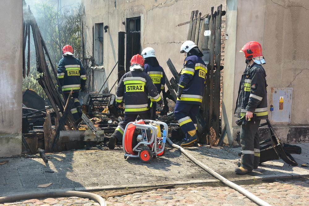 Pożar zabudowań przy ul. Młyńskiej - 27.05.18 r.