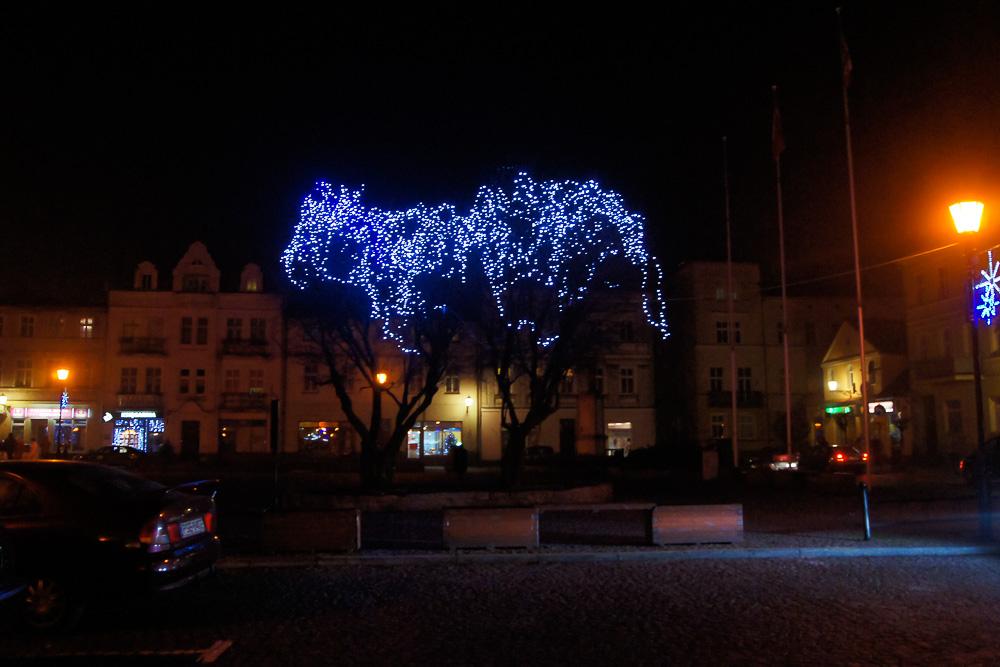 Świąteczne oświetlenie Śremu