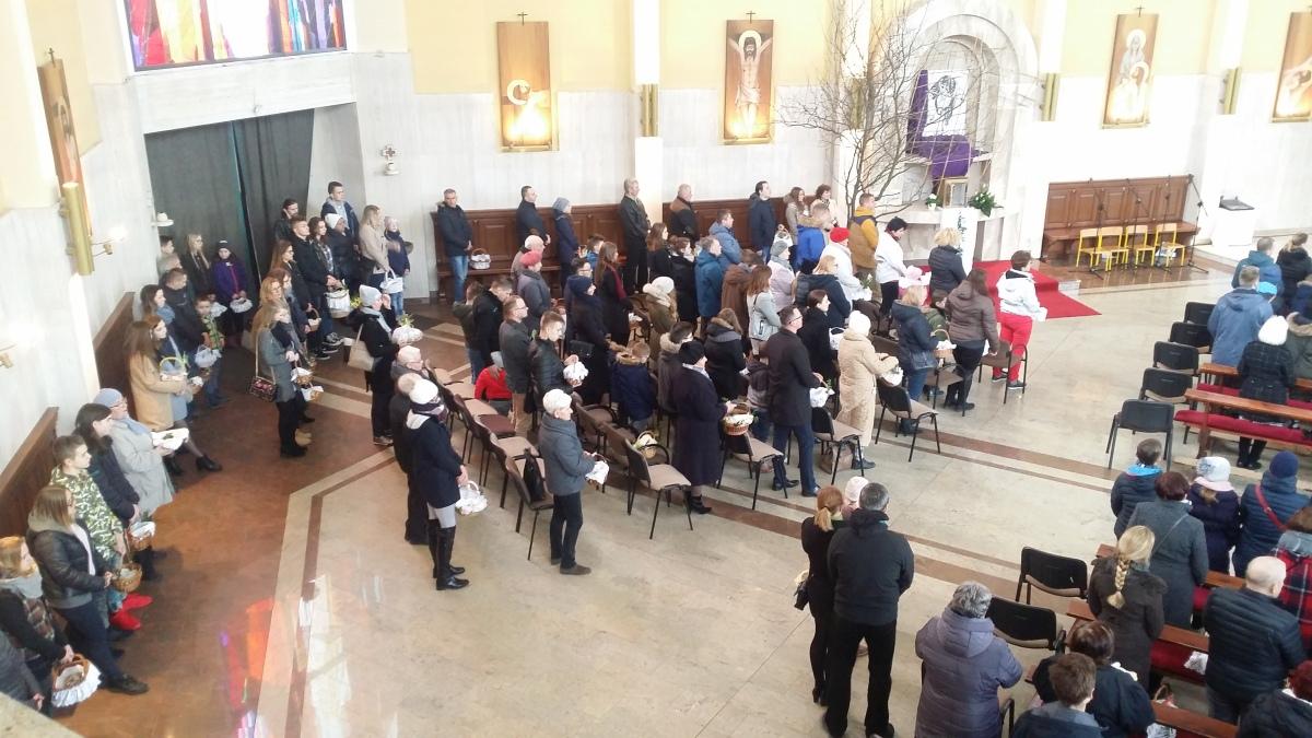 Święcenie pokarmów - Kościół garnizonowy - 31.03.18 r.