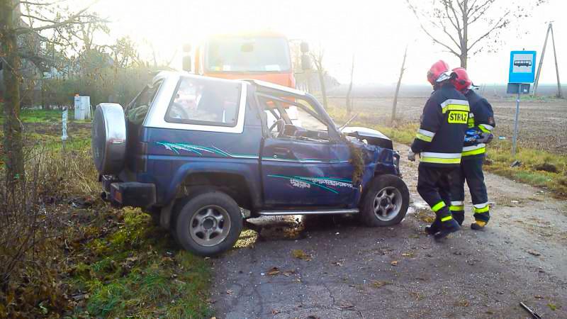 Wypadek na drodze Błociszewo - Krzyżanowo - 11.12.14r.