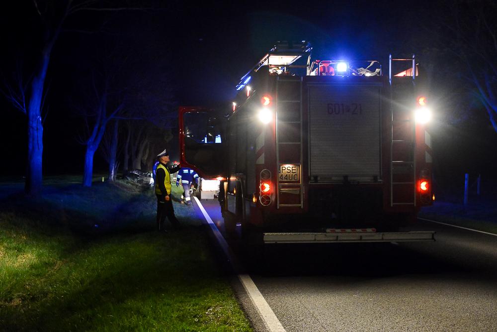 Wypadek na DW434 - Zbrudzewo - 16.04.18 r.