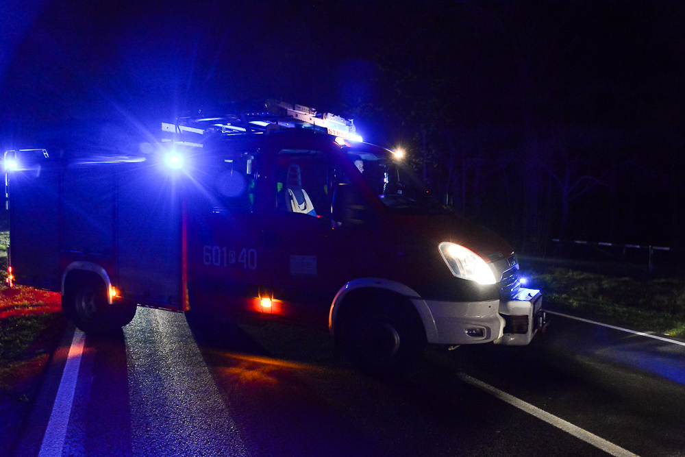 Wypadek na DW434 - Zbrudzewo - 16.04.18 r. / Michał Ratajczyk