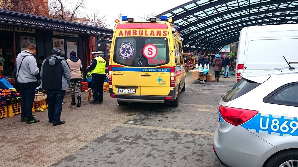 Wypadek na Targowisku Miejskim - 18.11.17 r.