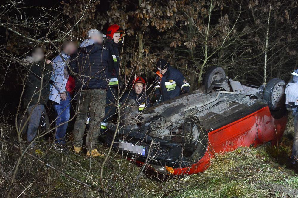 Wypadek na trasie Śrem - Gaj - 01.12.17 r.