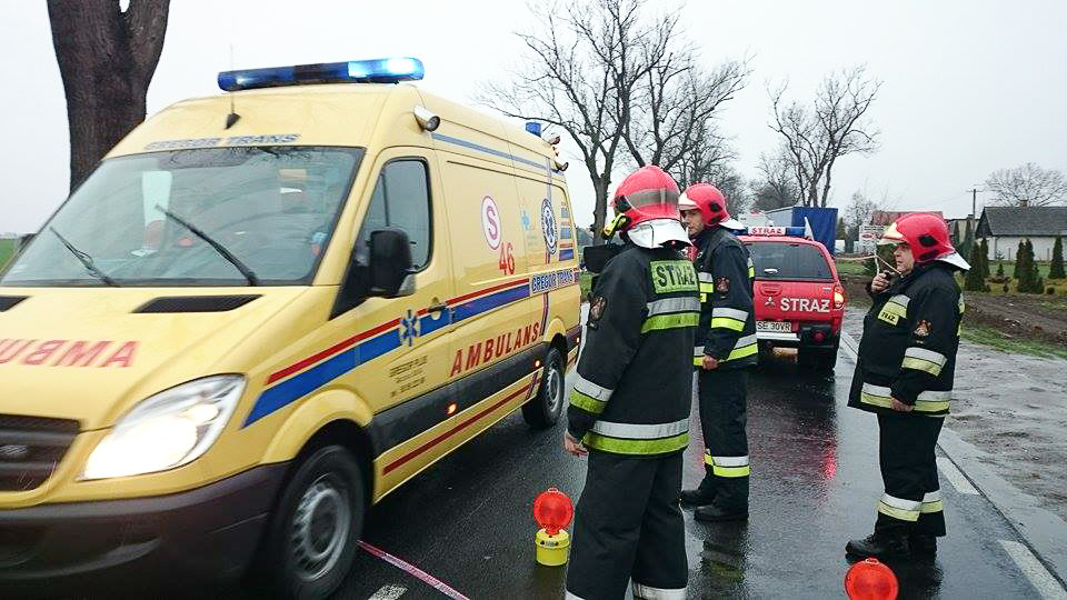 Wypadek w Nochowie - 18.12.15 r.