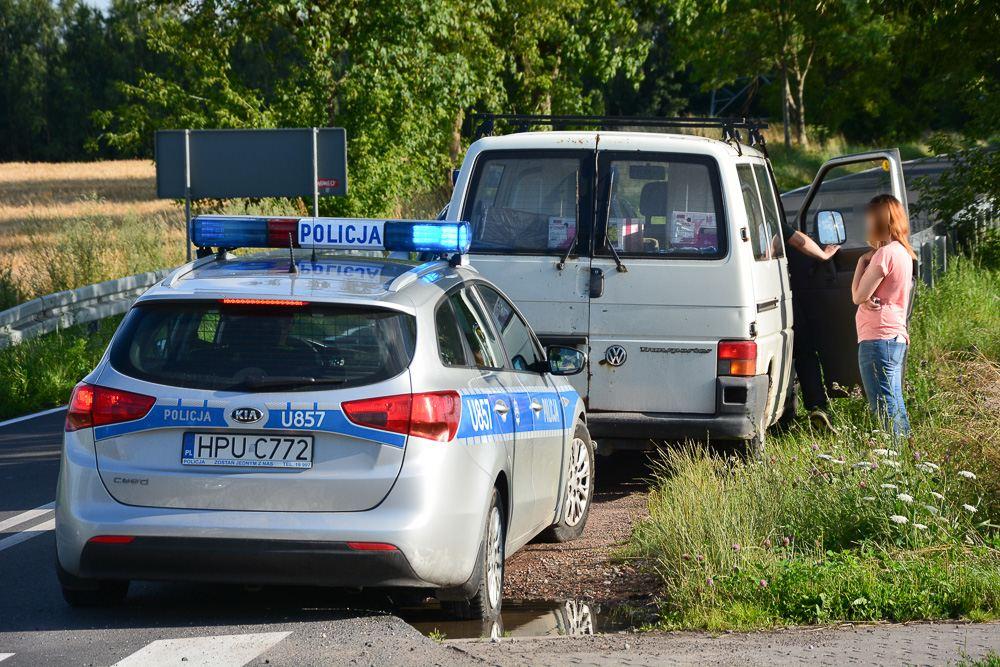 Zderzenie motocykla z busem - Nochowo - 17.07.17 r.