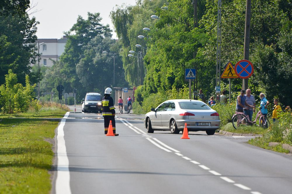 Zderzenie samochodu osobowego z tirem - Manieczki - 20.07.17 r.